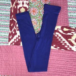 Blue-ish/Purple Footless Tights